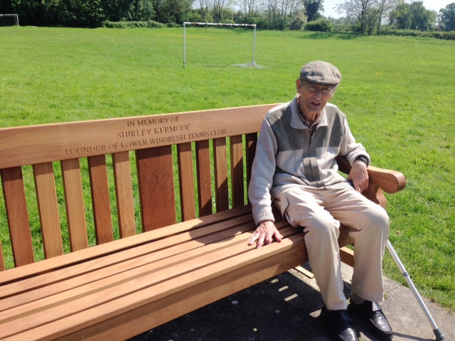 Brian on Shirley's bench
