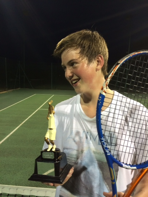 Edward with trophy